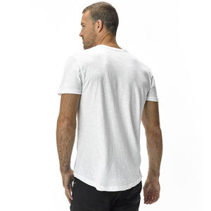 8a650f48430 Buck Mason Shirts - BUCK MASON - Slub Curved Hem Tee (WHITE)